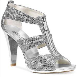 Berkley T-Strap Glitter Heels
